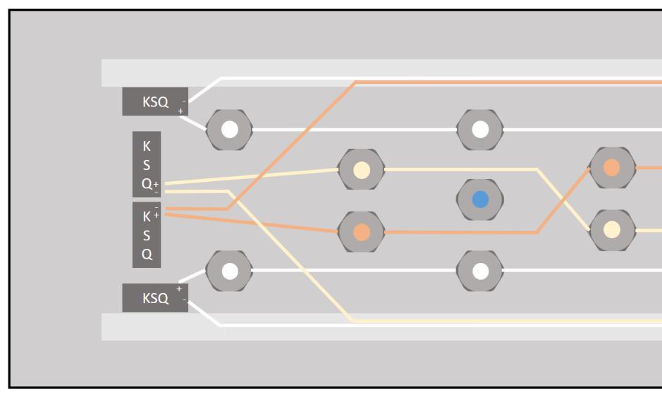 Anschluss KSQs und LEDs