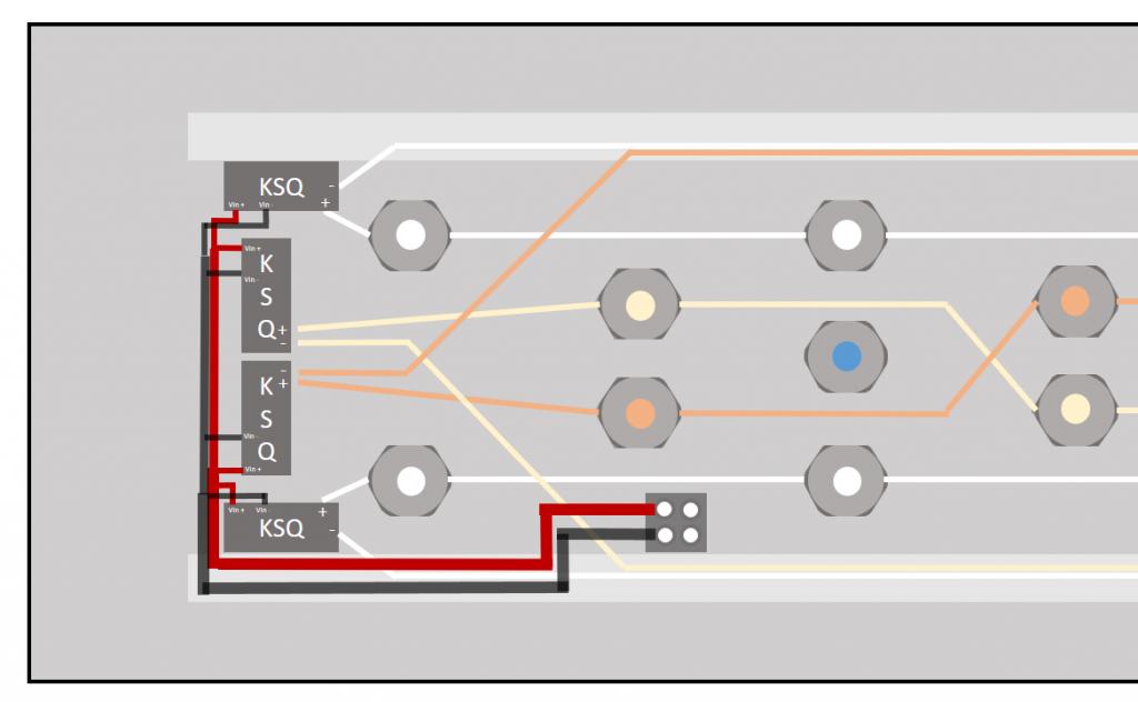 Schaltplan KSQs und LEDs in groß
