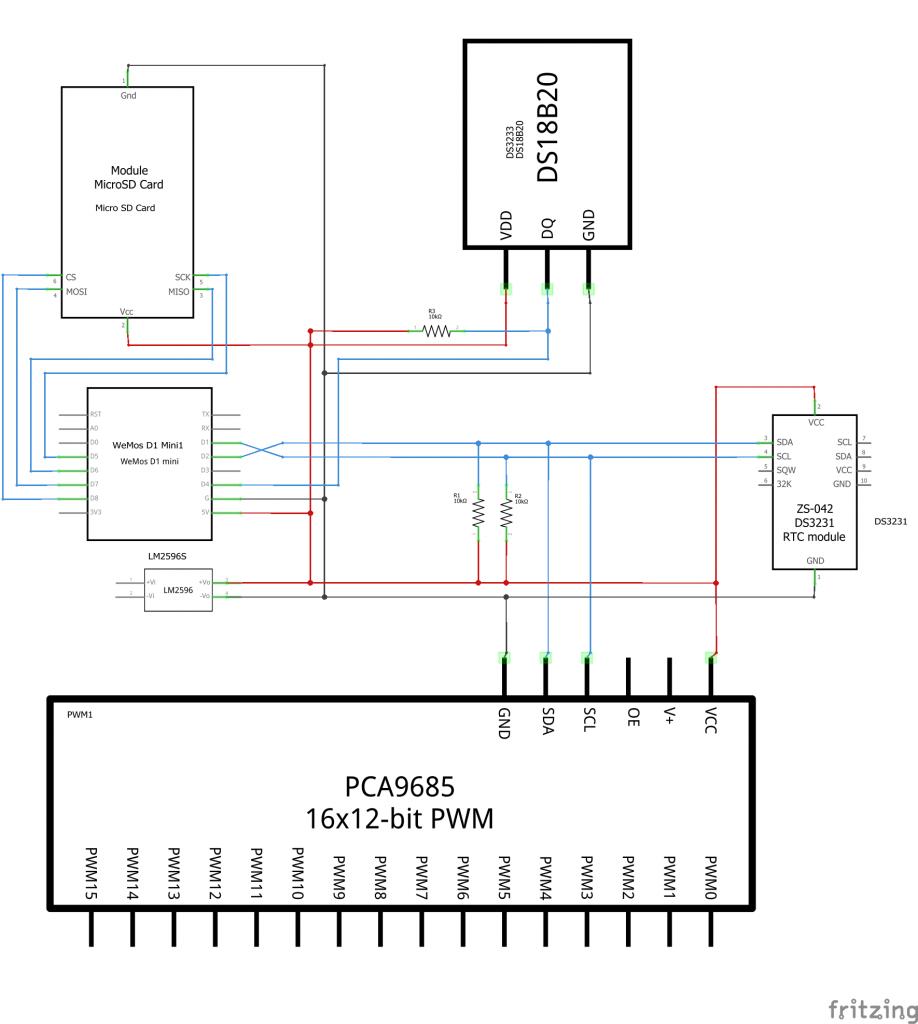 Verdrahtung Schullebernd Aqua Control v1.0